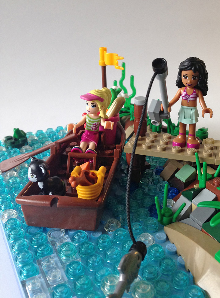 Martin5478's Lego Friends Spring Time Fishing Detail
