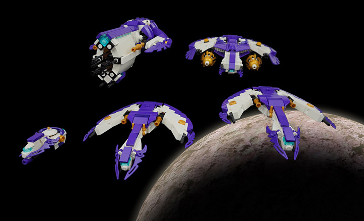 Tim Goddard's Lego Space Aquilax Fleet