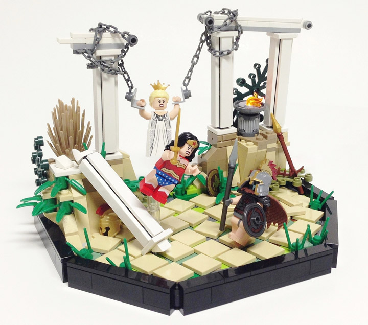 Tim Lydy's Lego Wonder Woman vs Ares