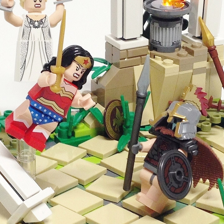 Tim Lydy's Lego Wonder Woman vs Ares Detail
