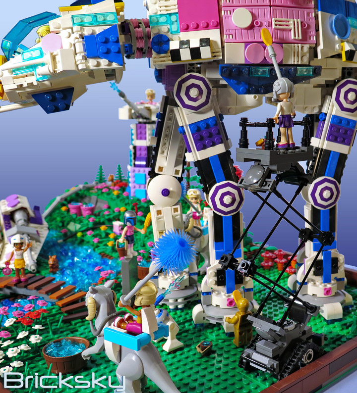 Tyler Sky's Lego Friends, Star Wars, AT-AT Cleaning Station