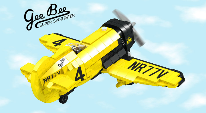 buggyirk's Lego Gee Bee Airplane