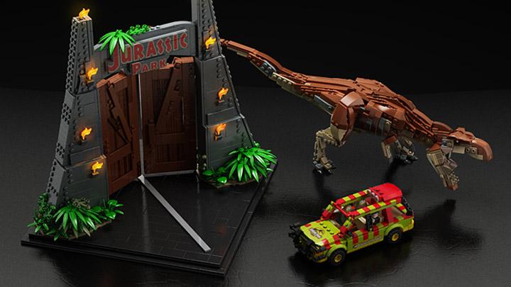 senteosan's Lego Jurassic Park Overhead