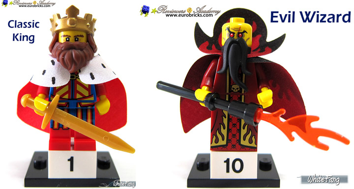WhiteFang Lego Collectable Minifigures Series 13, King and Wizard