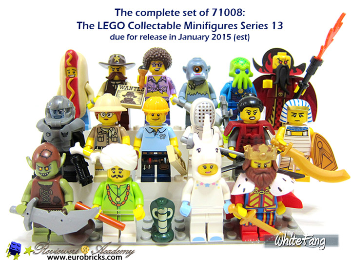 WhiteFang Lego Collectable Minifigures Series 13 Review