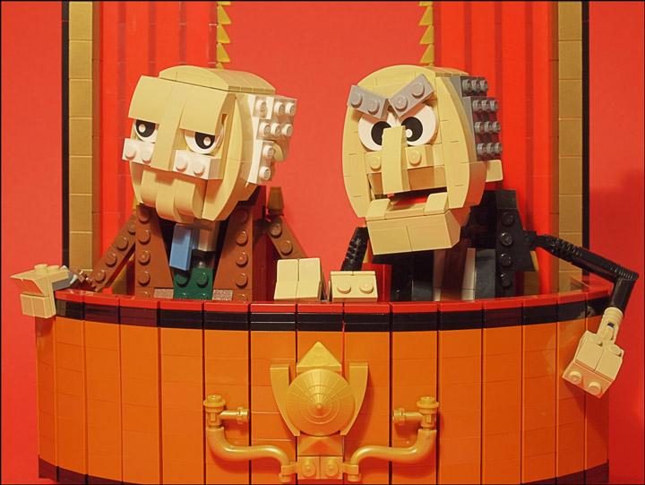 grubaluk's Lego Muppets, Waldorf And Statler