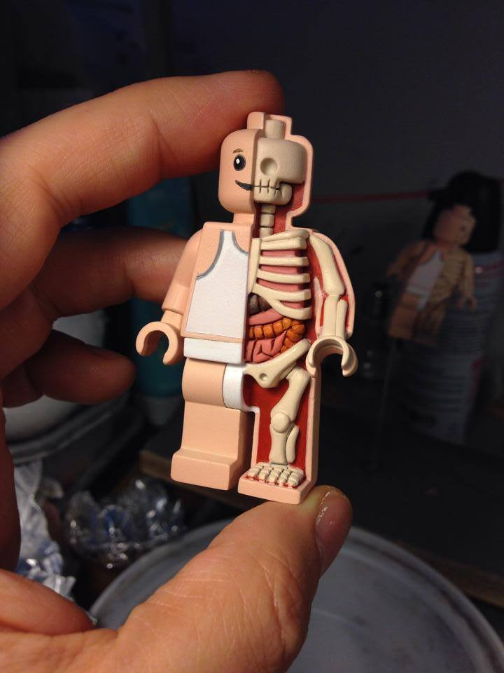 Freeny's Tiny Lego Man Anatomy Sculpt