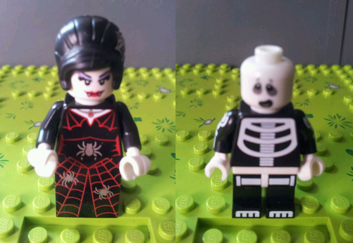 Lego Collectible Minifigures Series 14, Vampire, Skeleton Revealed