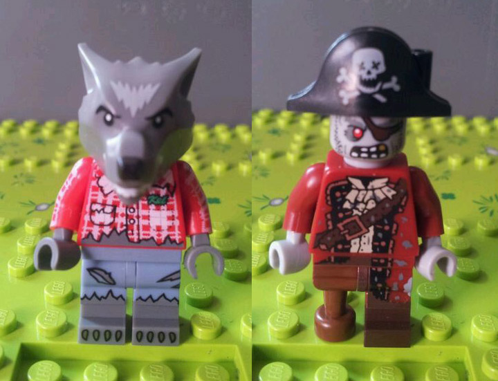 Lego Collectible Minifigures Series 14, Werewolf, Pirate