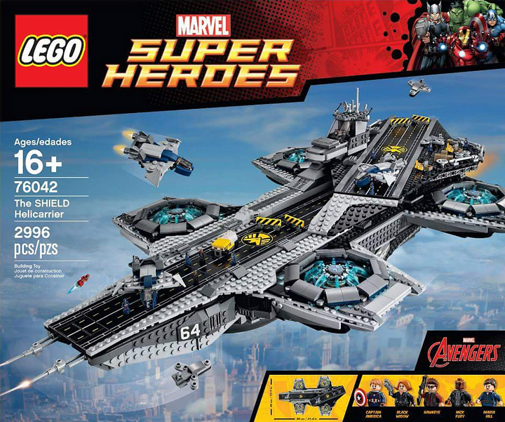 Lego Super Heroes, The SHIELD Helicarrier 76042 Box