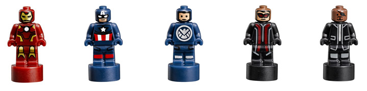 Lego Super Heroes, The SHIELD Helicarrier 76042 Mini Minifigures
