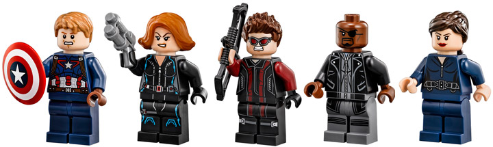 Lego Super Heroes, The SHIELD Helicarrier 76042 Minifigures