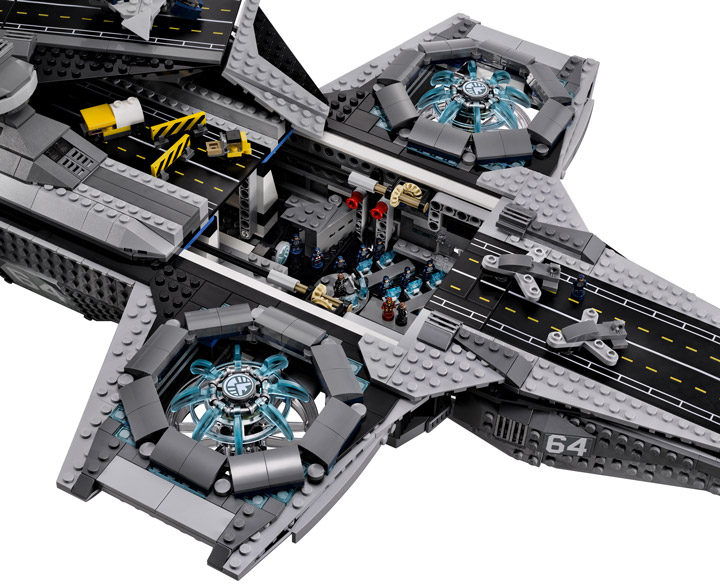 Lego Super Heroes, The SHIELD Helicarrier 76042 Open