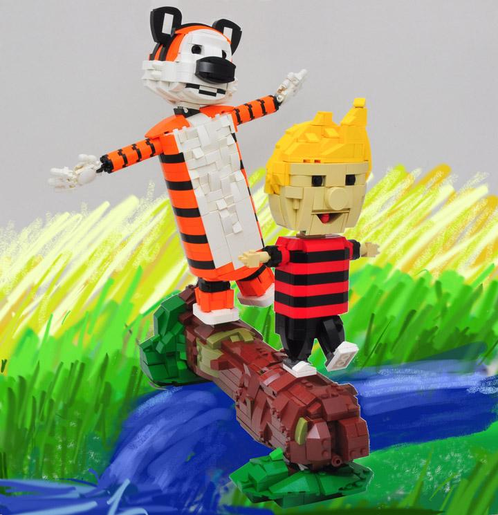 Simon Liu's Lego Calvin And Hobbes