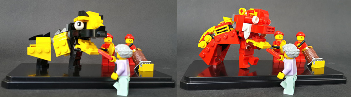 Donna Liem's Lego Barongsai In Action, Lion Dance