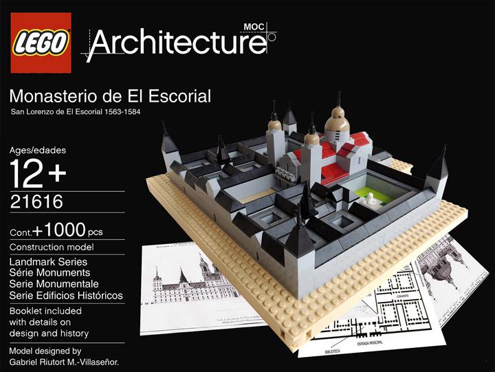 monasterio de el escorial - lego architecture