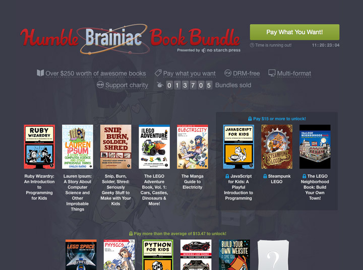 Humble Bundle, Brainiac Books Lego