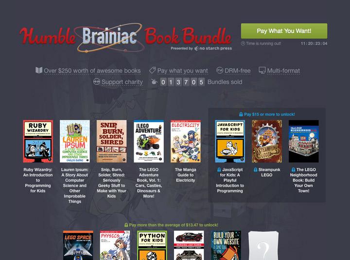 Humble Bundle, Brainiac Books Lego