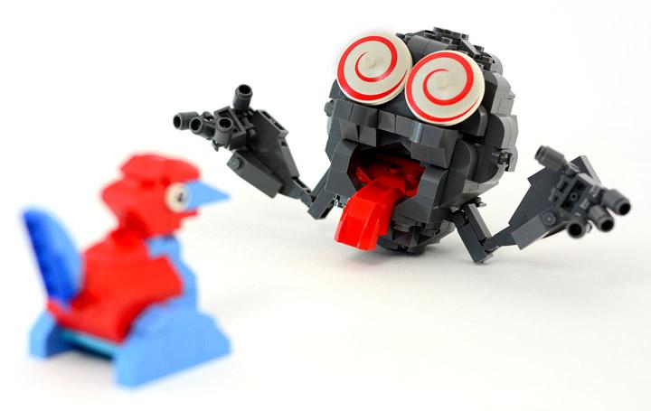 Julius von Brunk's Lego Pokemon Porygon, Geodude