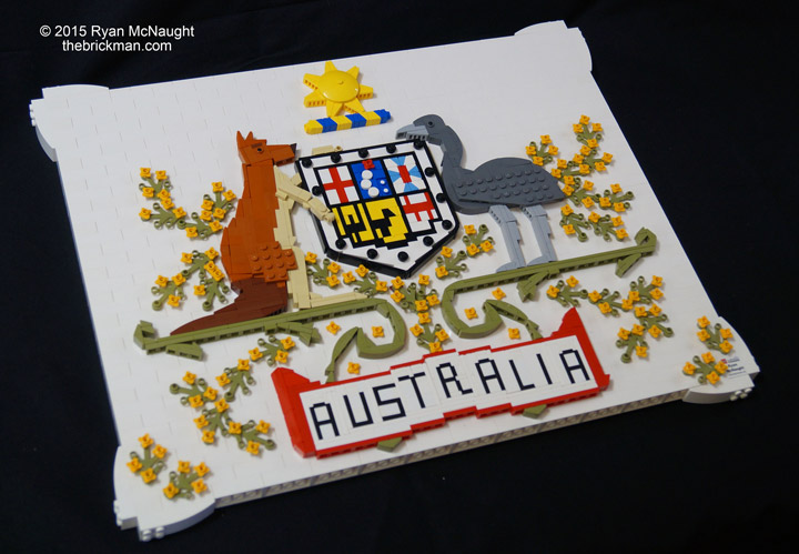 TheBrickMan's Lego Australia Day, Australian Coat of Arms