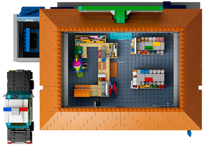 Lego The Simpsons Kwik-E-Mart 71016 Top