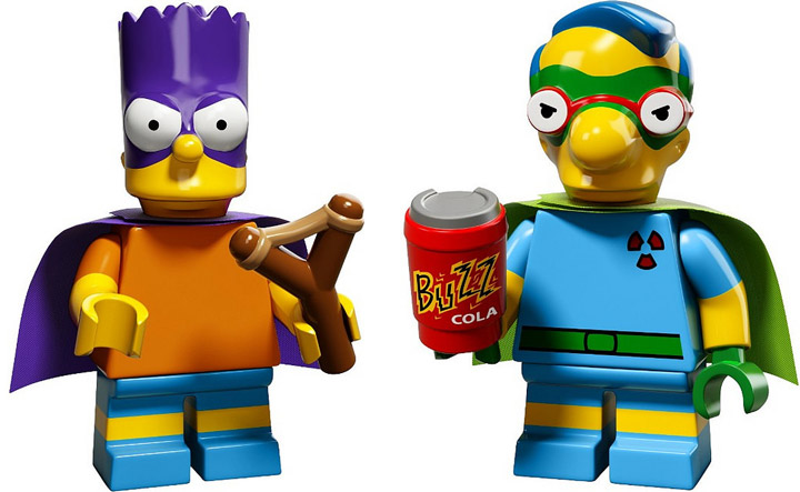 Lego The Simpsons Minifigures Series 2 Bartman and Fallout Boy