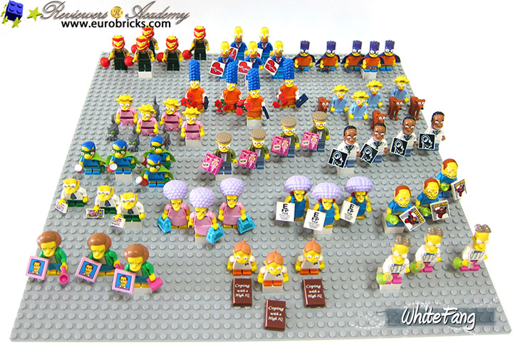 WhiteFang's Lego Simpsons Series 2 Review Minifigures