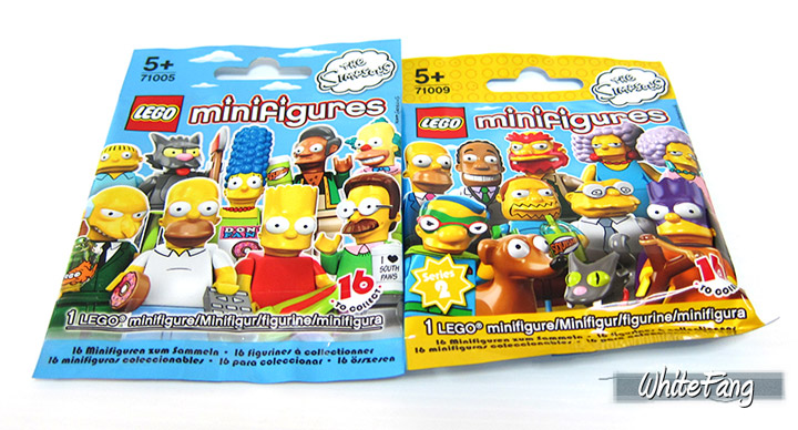 WhiteFang's Lego The Simpsons Series 2 Review Packs