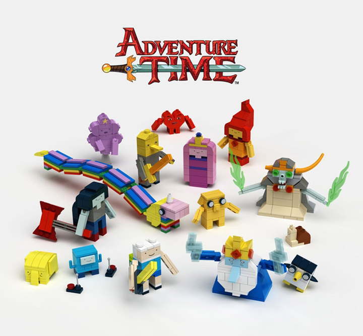 aBetterMonkey's Lego Adventure Time Brick-Built Figures