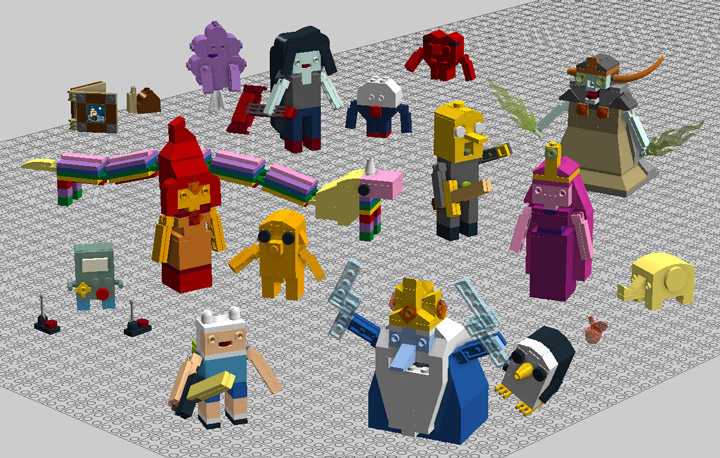 aBetterMonkey's Lego Adventure Time Brick-Built Figures Render