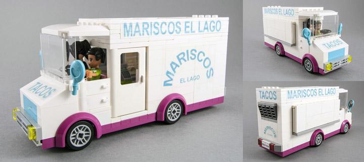 fujiia's Lego Friends Taco Truck Mariscos El Lago