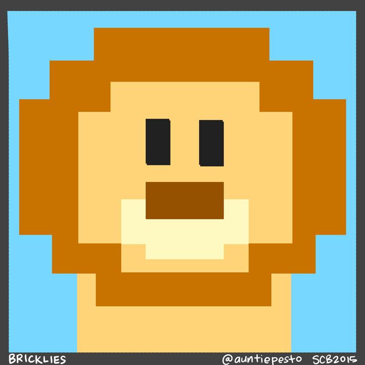 Bricklies: Lego Lion