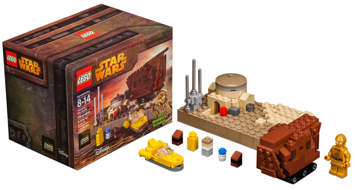 Lego Star Wars, Tatooine Mini Build. Star Wars Celebration 2015
