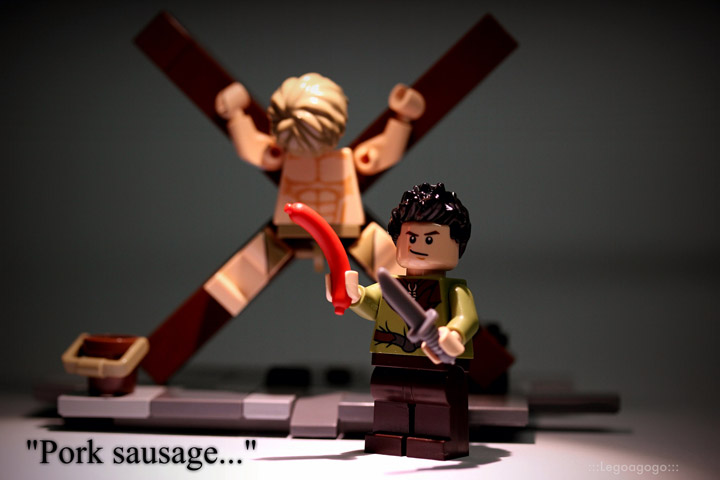 Legoagogo's Lego Game Of Thrones: Pork Sausage with Ramsay Bolton