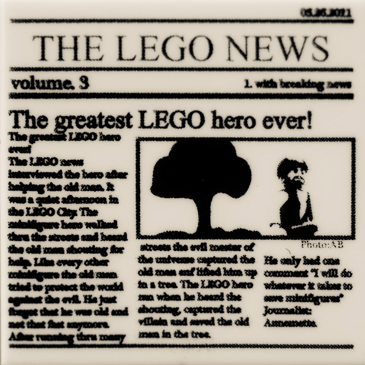 The Lego Newspaper, The Greatest Lego Hero Ever