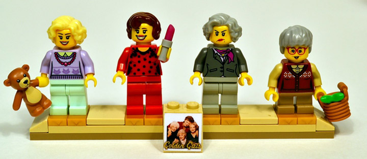 lostsleep's The Golden Girls Lego, Dorothy, Rose, Blanche, and Sophia