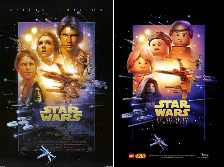 Lego Star Wars A New Hope Poster