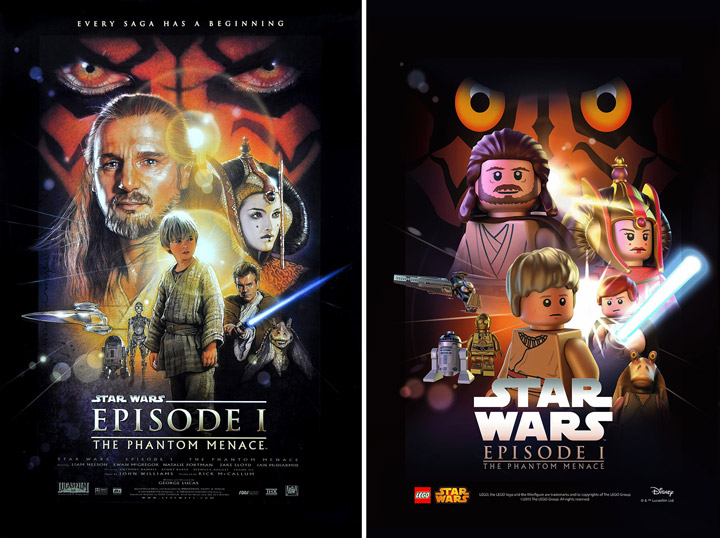 Lego Star Wars Episode 1 The Phantom Menace Poster