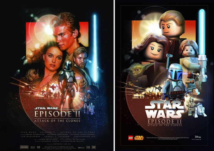 Lego Star Wars Episode 2 Attack Of The Clones Poster