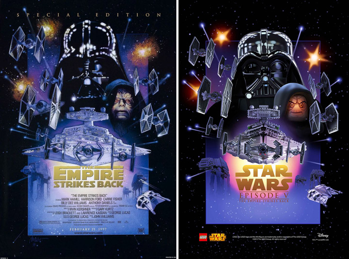 Lego Star Wars The Empire Strikes Back Poster