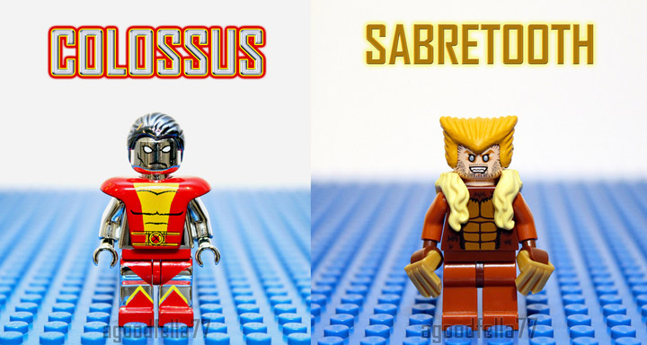 agoodfella minifigs' Lego X-Men, Colossus, Sabretooth