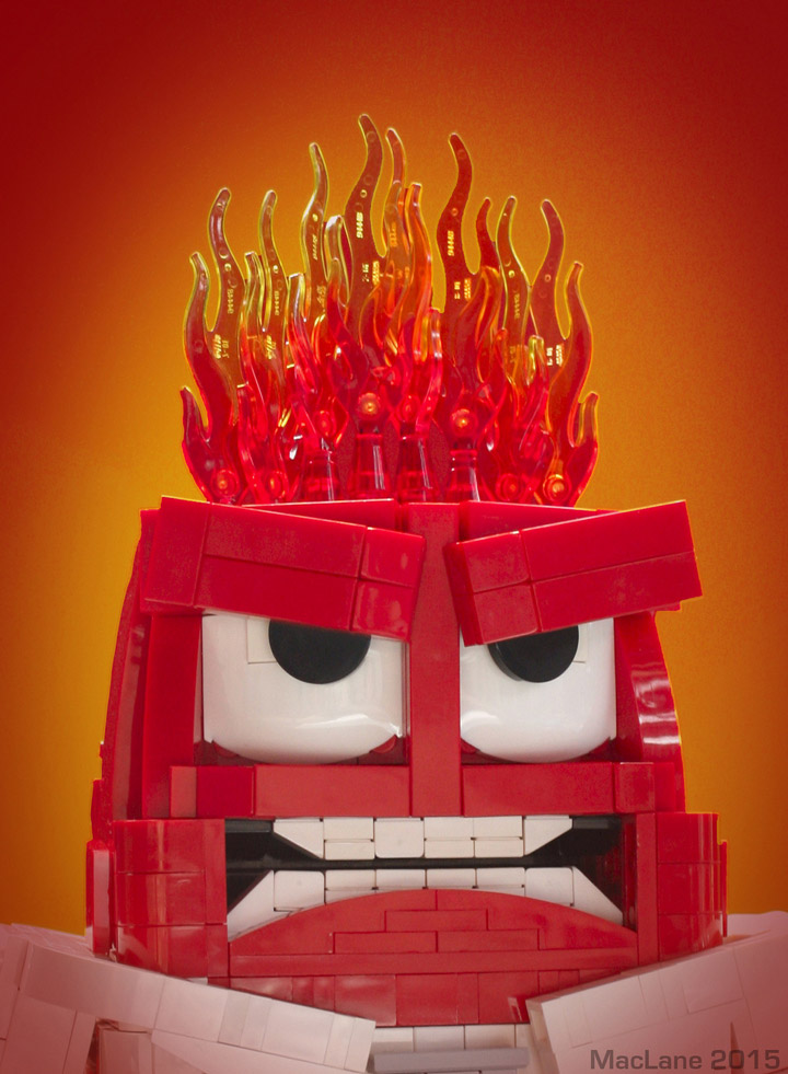 Angus MacLane's Lego Inside Out Anger