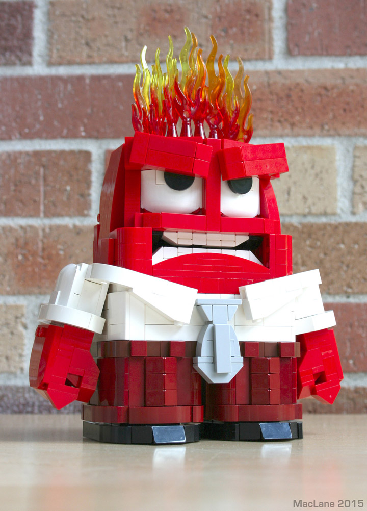 Angus MacLane's Lego Inside Out Anger Figure