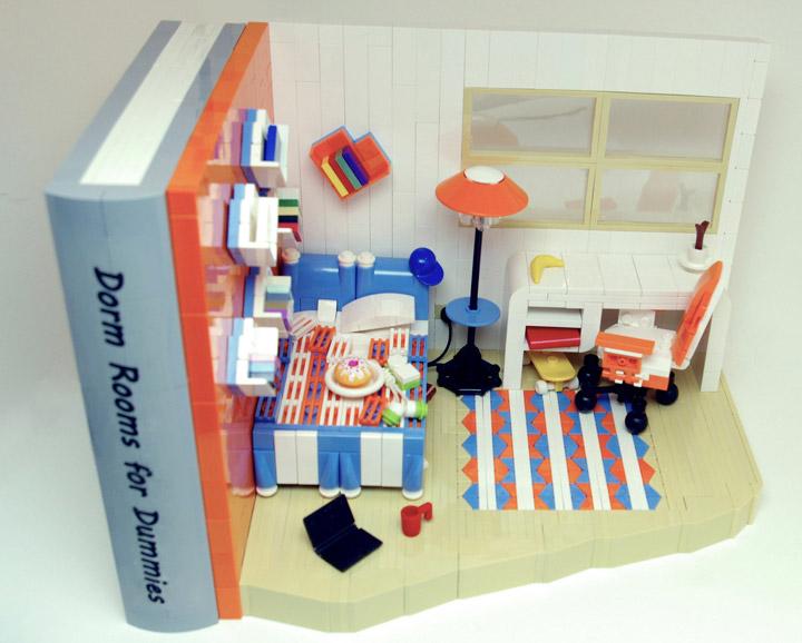 Deborah Higdon's Lego Bookends Drom