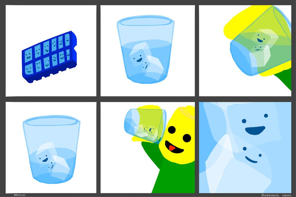 Bricklies: Lego Ice Cubes