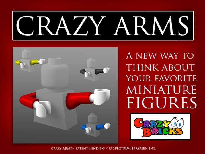 Crazy Bricks, Crazy Arms Lego Kickstarter