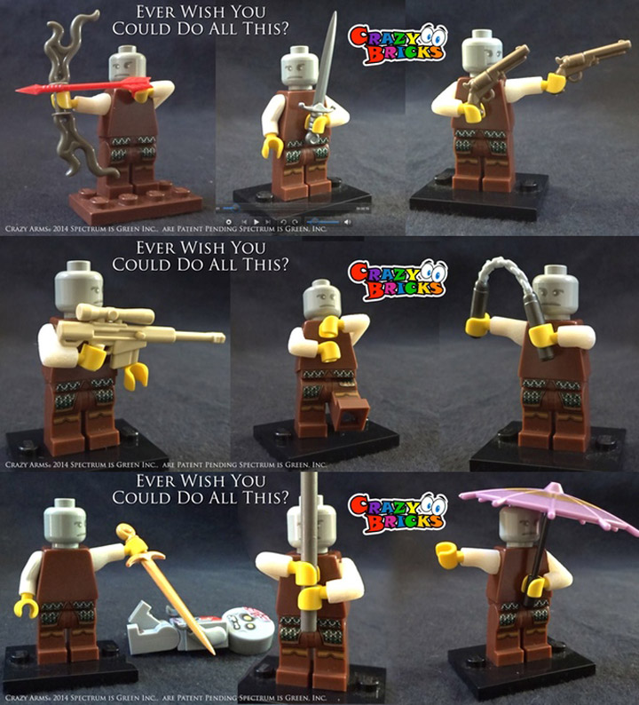 Crazy Bricks, Crazy Arms Lego Minifigures