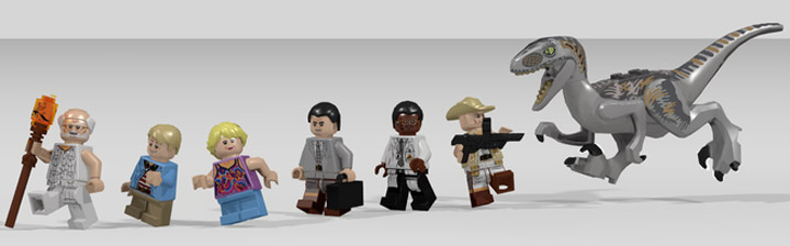 LDiEgo's Lego Jurassic Park Visitor Center Figures