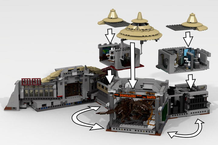 LDiEgo's Lego Jurassic Park Visitor Center Modular