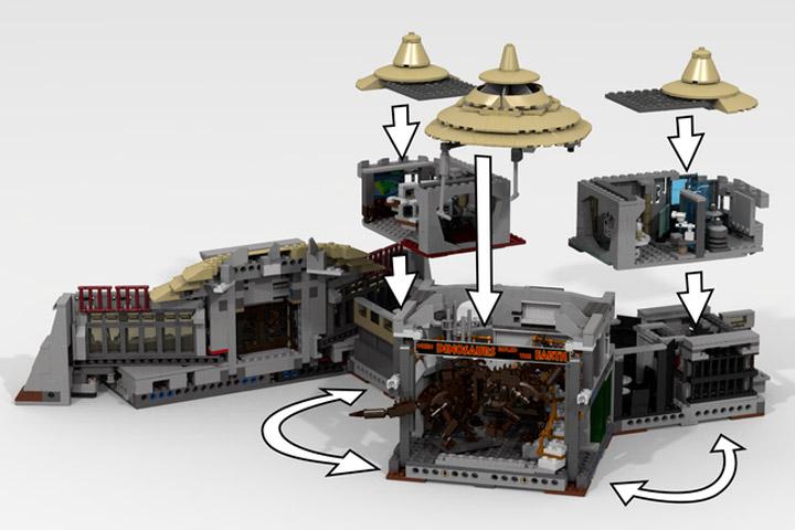LDiEgo's Lego Jurassic Park Visitor Center Modular